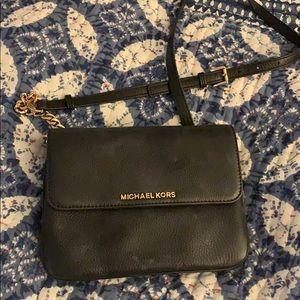 Michael Kors mini black crossbody purse!!